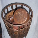 Iron And Timber Basket - Prop For Hire