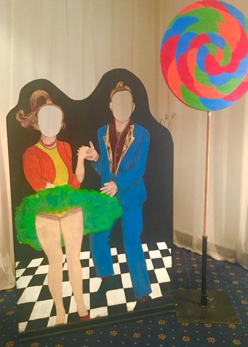 Jiving Couple Cutout - Prop For Hire