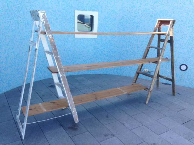 Ladder Shelves - Prop For Hire