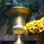 Large Gold Urn - Prop For Hire