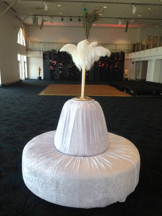 Large Round Ottoman - Prop For Hire