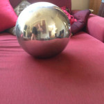 Large Silver Ball - Prop For Hire