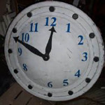 Large White Clockface - Prop For Hire