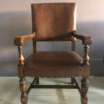 Leather Dining Chair - Prop For Hire