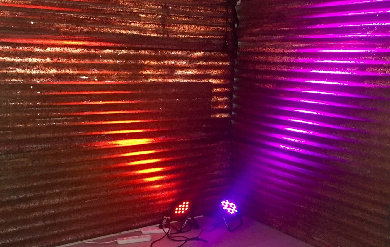 Lit Corrugated Walls - Prop For Hire
