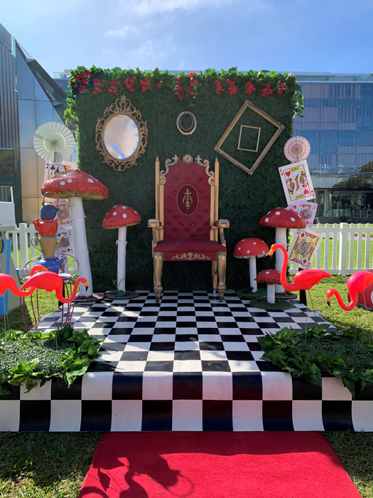Mad Hatter Photo Backdrop - Prop For Hire