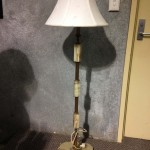 Marble Standing Lamp - Prop For Hire