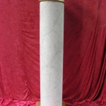 Marblised White Column - Prop For Hire