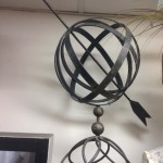 Metal Globe On Stand - Prop For Hire