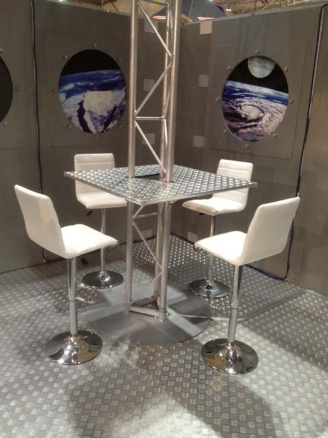 Modern White Barstools - Prop For Hire