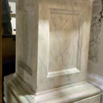 Mossy Marble Plinth - Prop For Hire