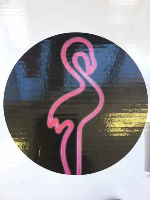 Neon Flamingo Sign - Prop For Hire