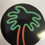 Neon Palm Sign - Prop For Hire