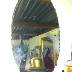 Oval Bevelled Mirror - Prop For Hire