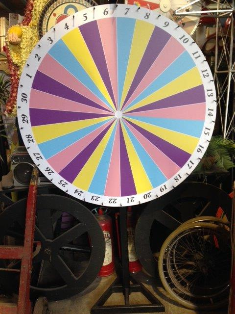 Pastel Chocolate Wheel - Prop For Hire