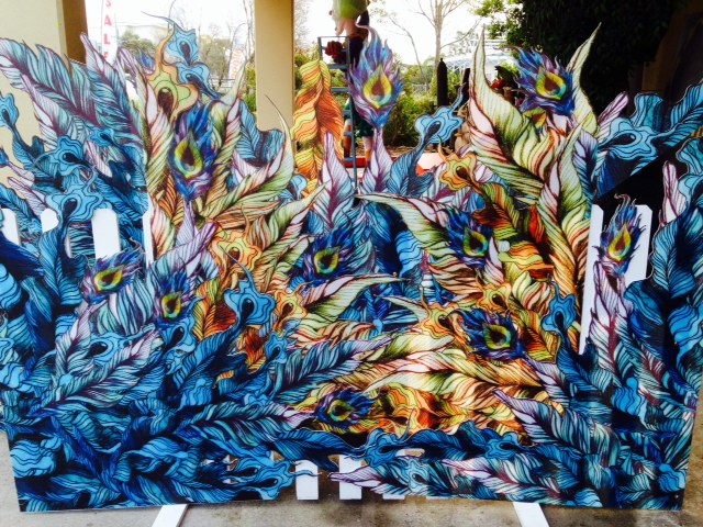 Peacock Mood Backdrop - Prop For Hire
