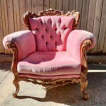 Pink French Armchair - Prop For Hire