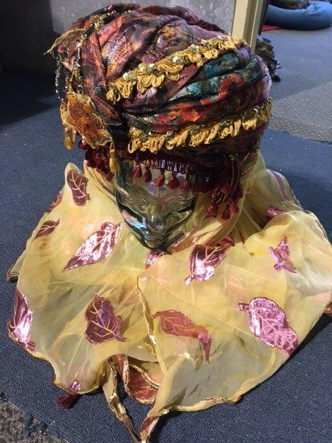 Purple Yellow Turban - Prop For Hire