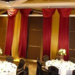 Red And Gold Draping - Prop For Hire