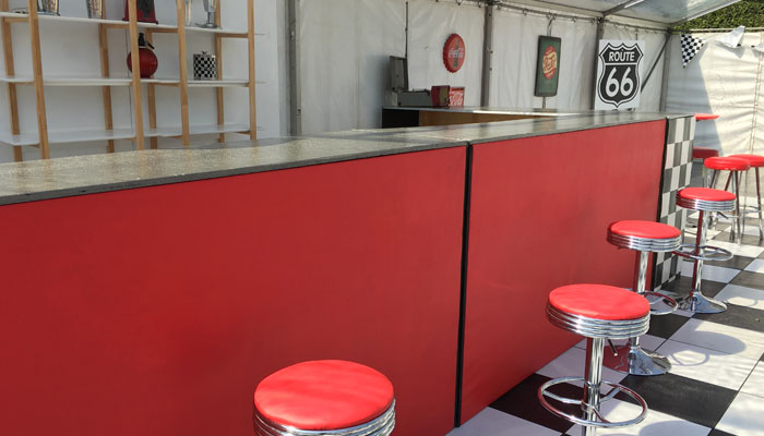 Red Bar Stool - Prop For Hire
