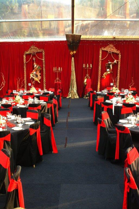 Red & Black Decor - Prop For Hire
