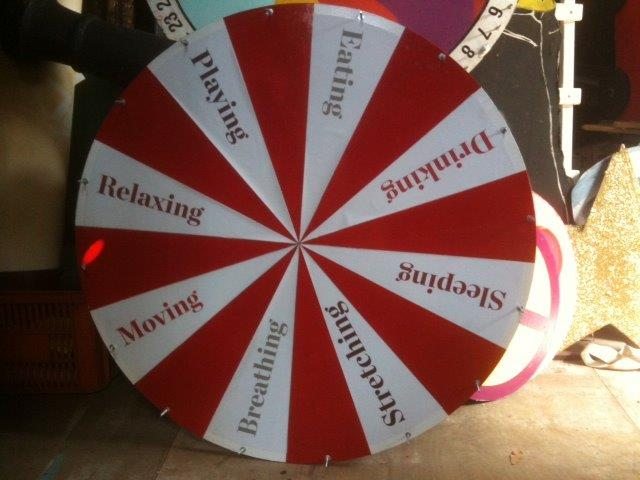 Red Chocolate Wheel - Prop For Hire