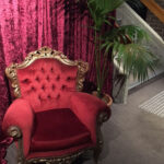 Red French Armchair - Prop For Hire