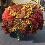 Red Gold Turban - Prop For Hire