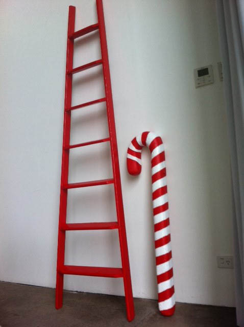 Ladder And Candycane - Prop For Hire