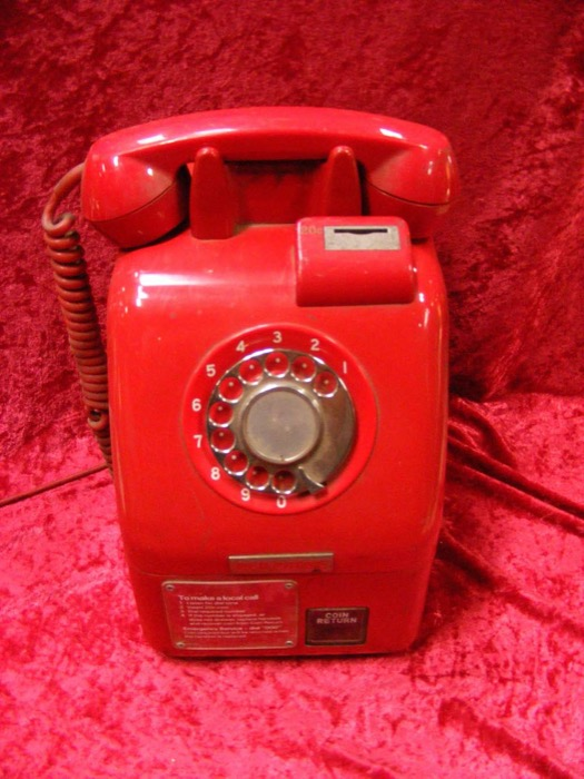 Red Public Payphone - Prop For Hire