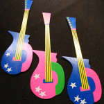 Retro Guitar Cutouts - Prop For Hire