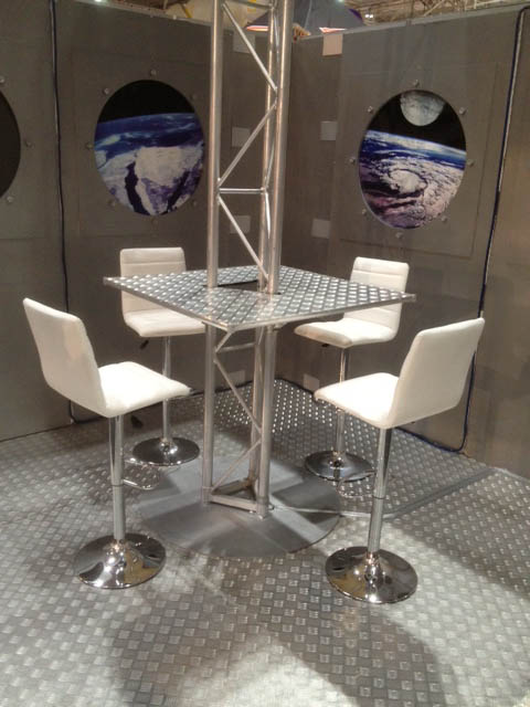 Retro White Bar Stools - Prop For Hire