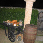 Rustic French Food Cart - Prop For Hire