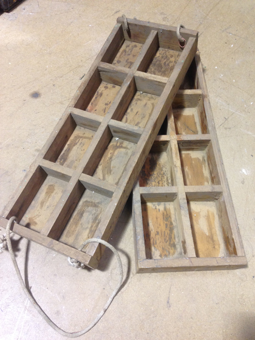 Rustic Timber Trays - Prop For Hire