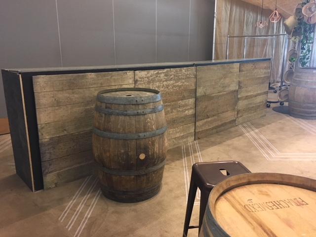 Rustic Wooden Bar - Prop For Hire
