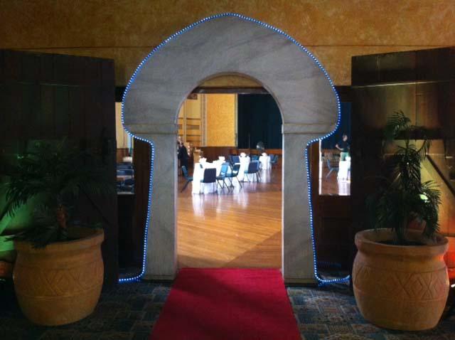 Sandstone Arch Entrance - Prop For Hire