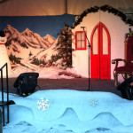 Snowman Cottage Scene - Prop For Hire