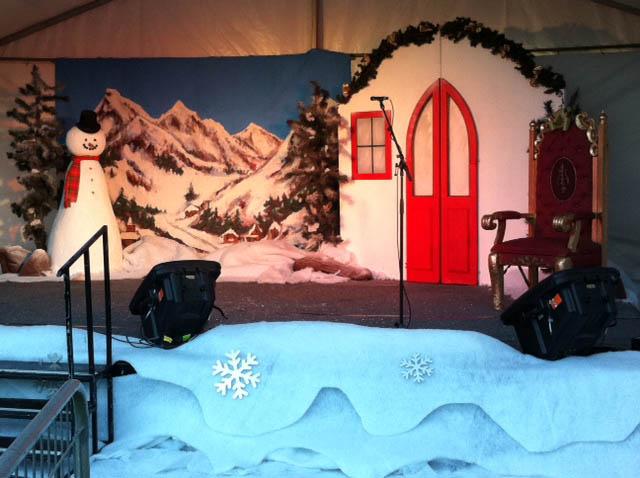 Snowman Cottage Scene - Prop For Hire