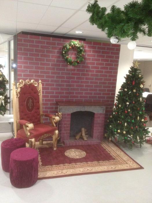 Santa Set Fireplace - Prop For Hire