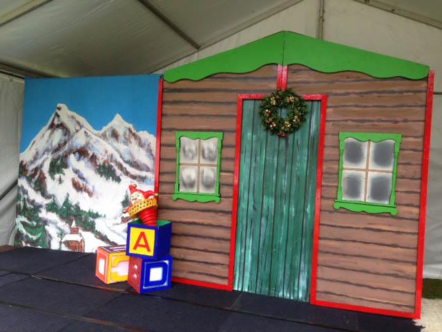 Santa Workshop Backdrop - Prop For Hire