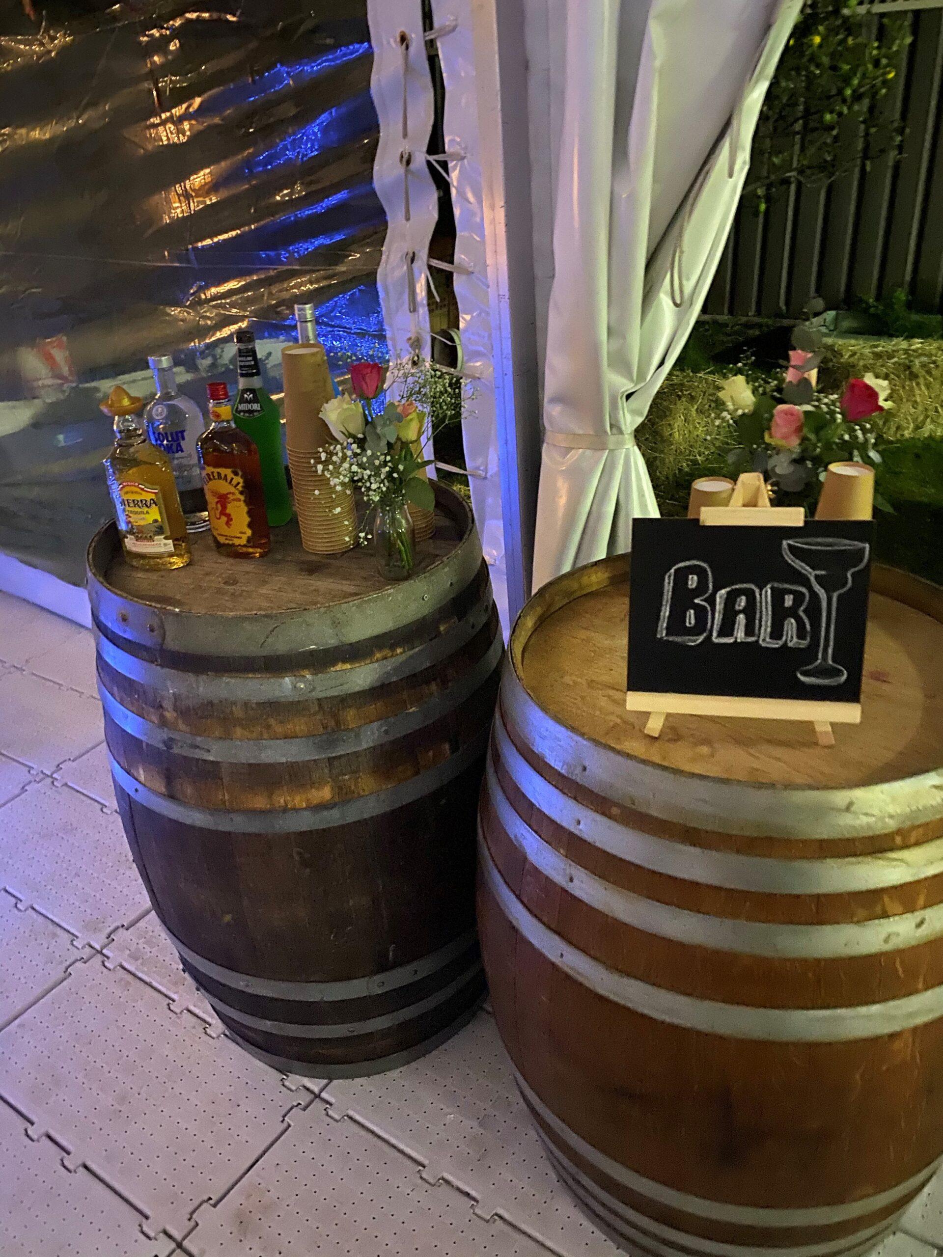 Single Barrel Tables - Prop For Hire