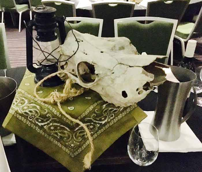 Skull Table Centre - Prop For Hire