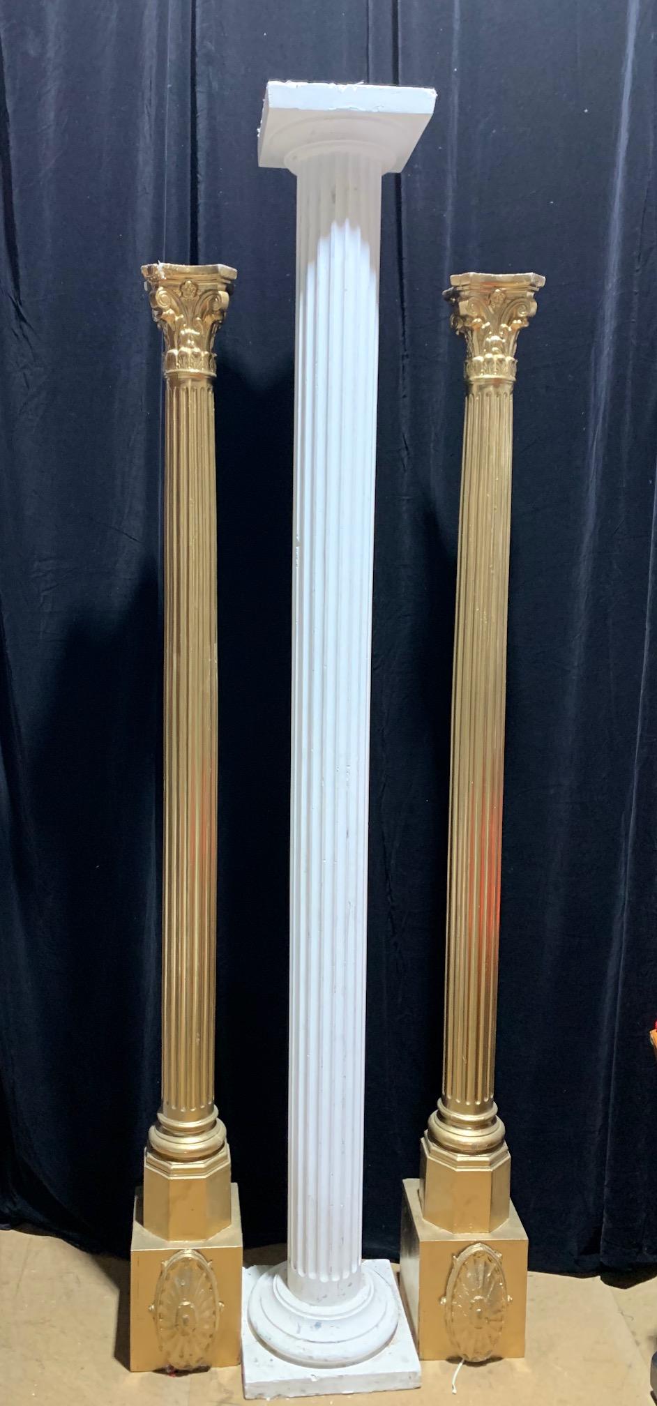 Slender Ribbed Columns - Prop For Hire