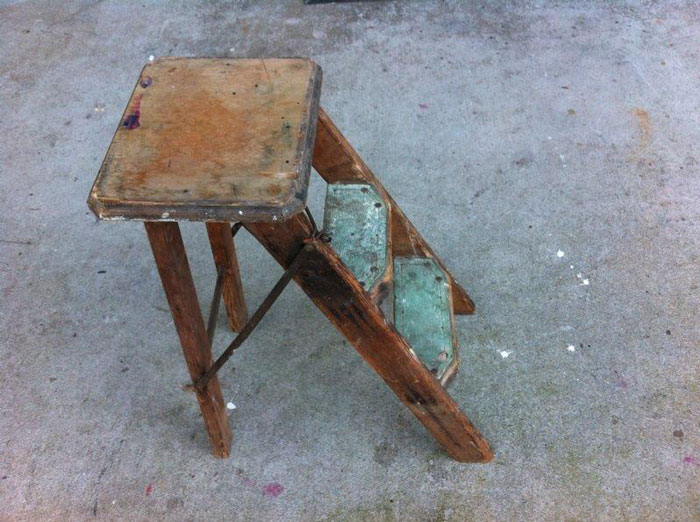 Small Antique Stepladder - Prop For Hire