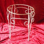 Small Metal Side Table - Prop For Hire