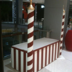 Striped Candystand - Prop For Hire