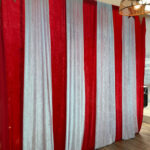 Striped Circus Drapes - Prop For Hire