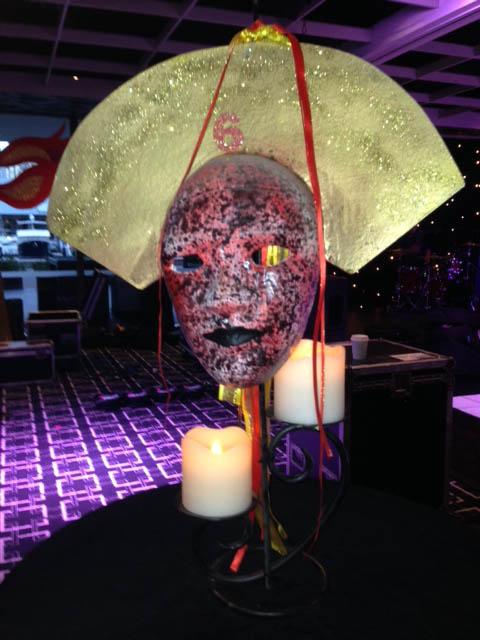 Tablecentre Masks 2 - Prop For Hire
