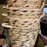 Tall Raffia Basket - Prop For Hire