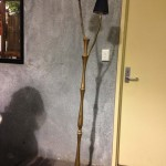 Timber Standing Lamp - Prop For Hire